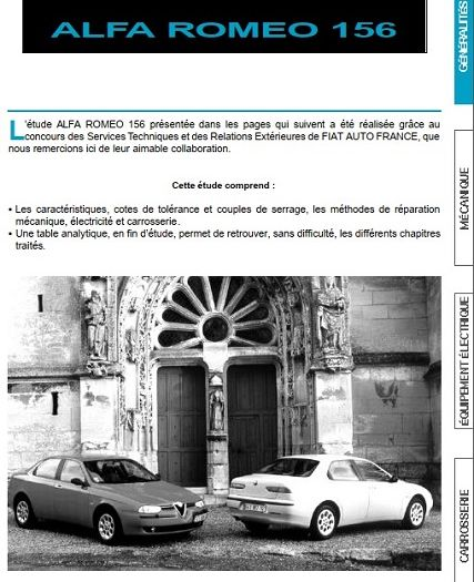 Alfa Romeo 156 Service Manual by Larry